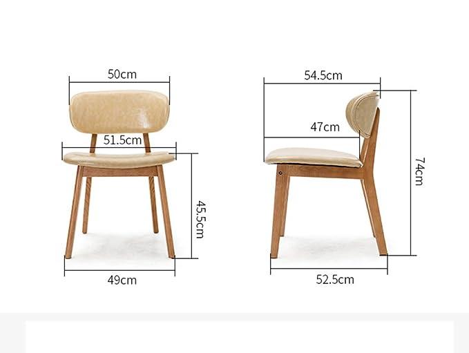 Moderner einfacher Esszimmer beiläufiger Massivholzstuhl, kreativer ...