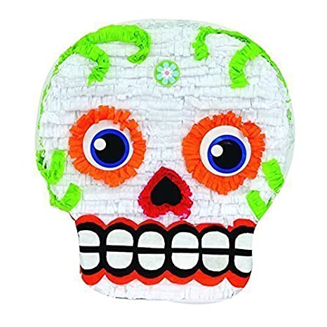 Day Of The Dead Skull Halloween Pinata Party Game And Centerpiece Decoration