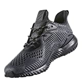 adidas Performance Men's Alphabounce Ams m Running Shoe, Black/Utility Black/White, 9 M US