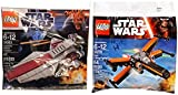 Lego Star Wars Republic Attack Ship & Poe's X- Wing Fighter Starship set - Polybag 30278 + 30053 edition Building Set