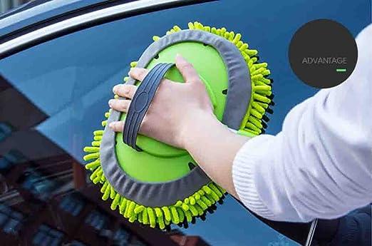 BMDHA Retractable Car Wash Brush Long Handle Cotton Multifunction Soft Brush Green, Will Not Hurt Car Paint