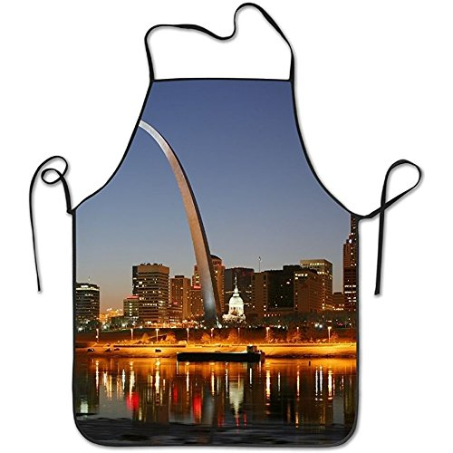 St. Louis Deluxe Cute Aprons Personalized Printing Kitchen Cute Apron (Louis St Apron)