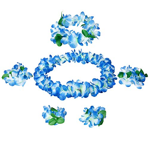Udalyn Hawaiian Luau Flower Leis Jumbo Necklaces Bracelets