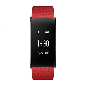 Smart Watch Intelligent relojes de Bluetooth pulsera Presión sanguínea arterial Monitor de Ritmo Cardíaco Medición del
