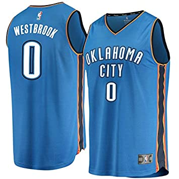 NBA OKC Westbrook 0 Fan Men Jersey Hombres (Azul, L)