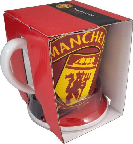 Manchester United Football Club - Club Crest Mug And Coaster Set