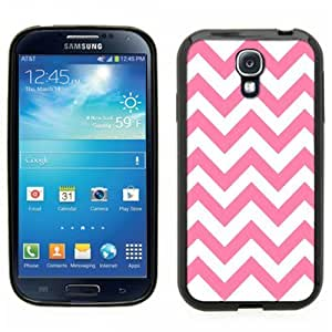 Pink Ladoo? Samsung Galaxy S4 Black Case - Pink and White Chevron pattern print