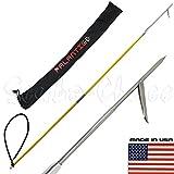 Scuba Choice SCPSS1-02-06B 6 feet ravel Spearfishing 2Piece Fiber Glass Pole Spear Single Barb Tip w/ Bag