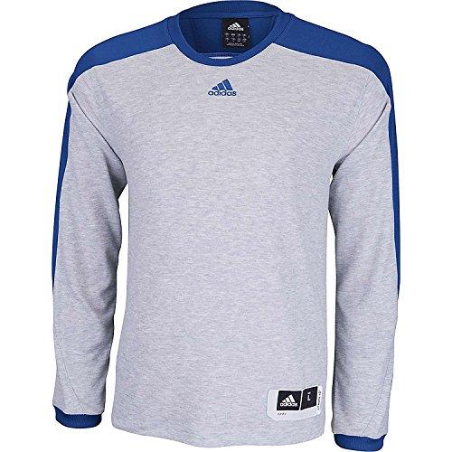adidas Men's Team Speed Shooting Shirt (X-Small, Grey/Royal)