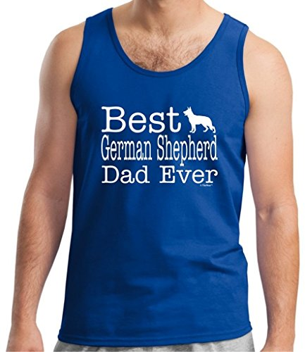 ThisWear Dog Lover Gift Best German Shepherd Dad Ever Tank Top Large (Akc German Shepherd)