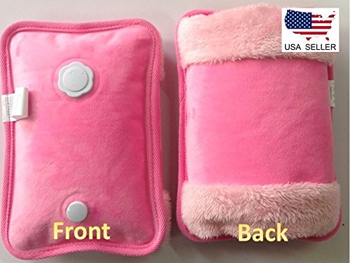 Pink Rechargeable Portable Personal Heating Pad/Pack W/ Personal Pocket