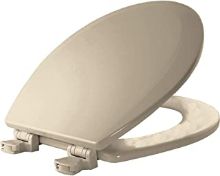 product image for BEMIS 500EC 146 Toilet Seat with Easy Clean & Change Hinges, ROUND, Durable Enameled Wood, Almond