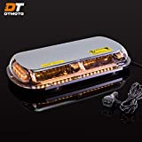 16' 132-Watt LED Mini Light Bar w/ 8 Modes, IP66 Waterproof and Magnetic Mount - Amber Warning Strobe Light Bars for Hazard, Emergency, Snow Plow Vehicles