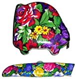 2 pc. Mother's Day Gift for Mom Ladies Women Girls Flower Floral Box Cutter Utility Knife Razor Blade and Tape Measure {jg} Great oliday Gift Ideas - for mom, dad, sister, brother, gay, lgbtq