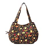 Quilted Cotton Women's Handle Bags Shoulder Bags for lady (Coffee)