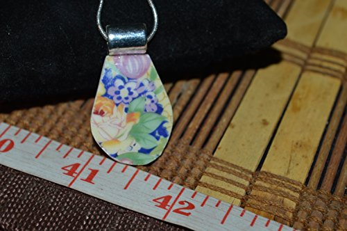 Recycled Broken Vintage Royal Winton Grimwades China Jewelry, Walbeck Chintz Necklace