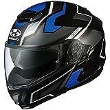 オージーケーカブト(OGK KABUTO)バイクヘルメット システム IBUKI DARK(ダーク) フラットブラックブルー (サイズ:L) 571283