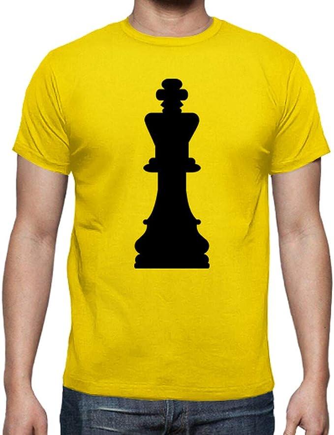 latostadora - Camiseta Rey de Ajedrez para Hombre: Amazon.es: Ropa y accesorios