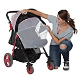 Dulcii Baby Stroller Mosquito Net, Sun Shading Cloth Silver Baby Carriage Cradles Mosquito Net Protection Against Ultraviolet Ray Dust