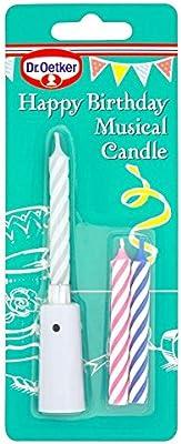 Dr. Oetker Feliz cumpleaños Vela Musical – Pack de 2: Amazon ...