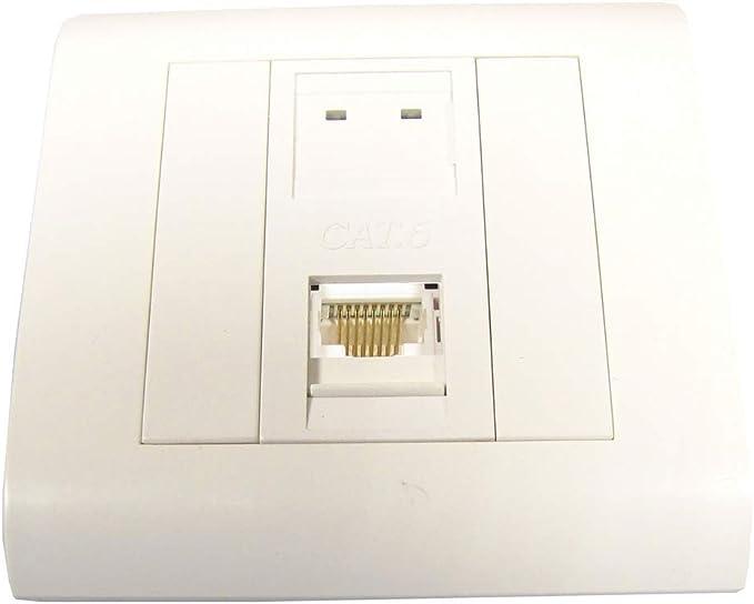 BeMatik - Caja de pared o canaleta de 80x80 con 1 RJ45 FTP Cat.6 568B: Amazon.es: Electrónica