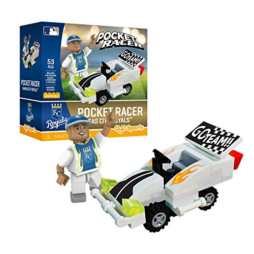 Kansas City Royals OYO Sports Toys Pocket Racer Set with Minifigure 53PCS