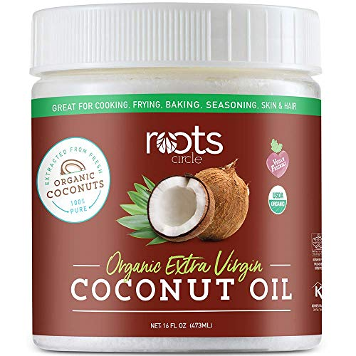 Roots Circle USDA Organic Extra Virgin Coconut Oil 1-16oz Jar