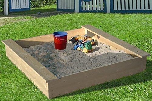Sandkasten-aus-naturbelassenem-Massivholz-verschiedene-Gren
