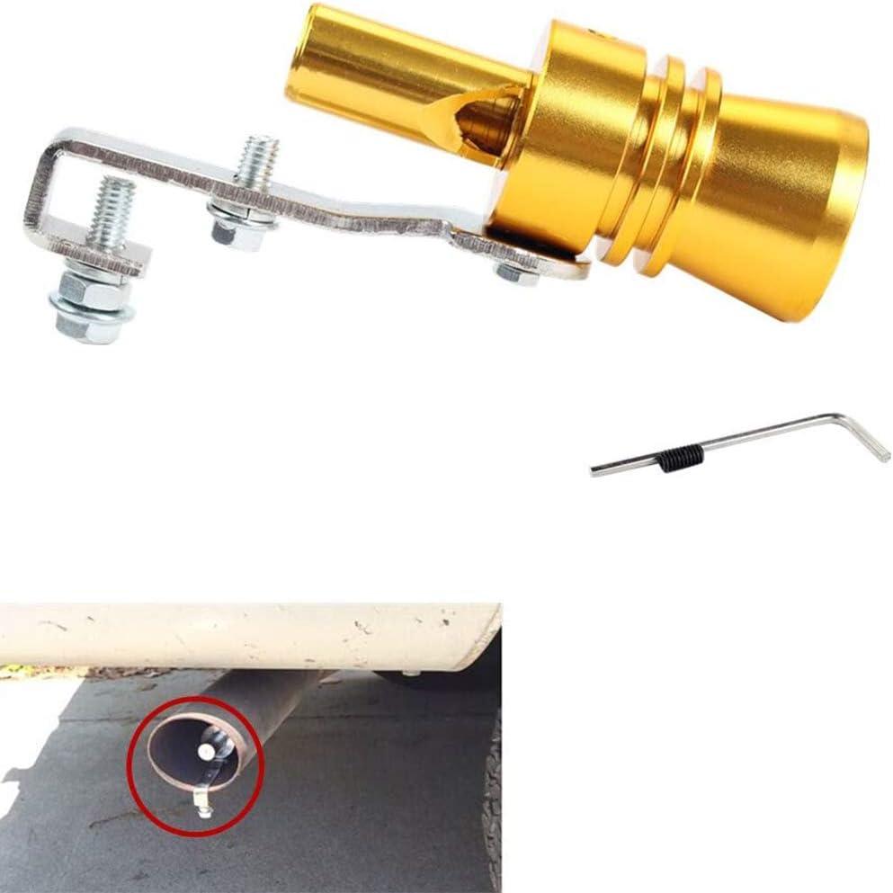 FAYUE Black Universal Aluminum Turbo Sound Exhaust Muffler Pipe Whistle Car Blow off valve BOV Tip Simulator Whistler