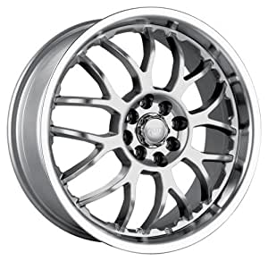 "Akita AK6 460 Hyper Silver Wheel with Machined Lip (17x7""/10x112mm)"