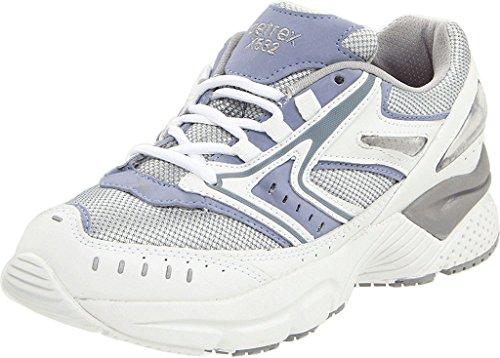Apex Women's X532 Reina Running Shoe,Silver/Blue,7.5 WW US