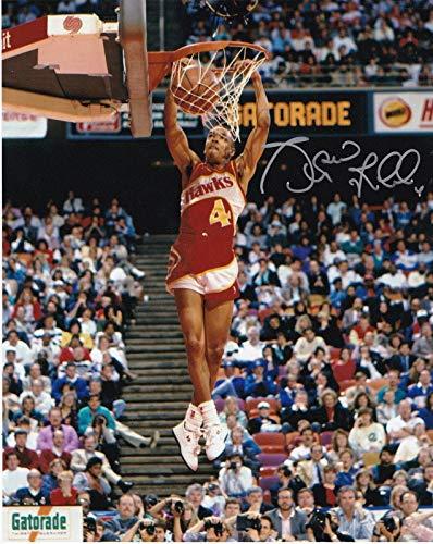 Autographed Slam Dunk - Spud Webb Autographed Picture - SLAM DUNK CONTEST 8x10 - Autographed NBA Photos