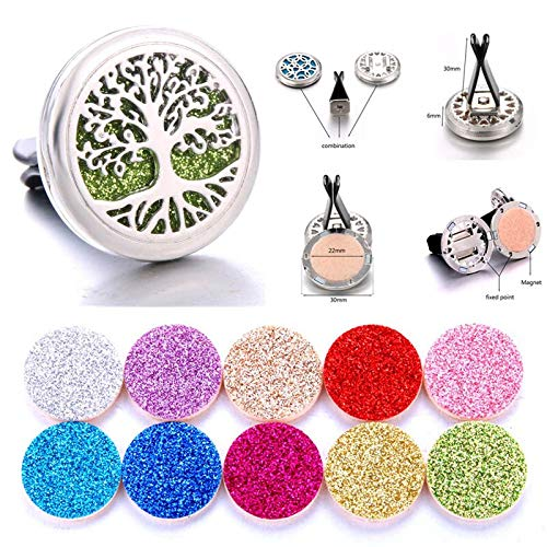 Diffuser Jewelry | Cross Air Freshener Stainless Vent Essential Oil Diffuser | Car Clip | Aromatherapy Pendants]()
