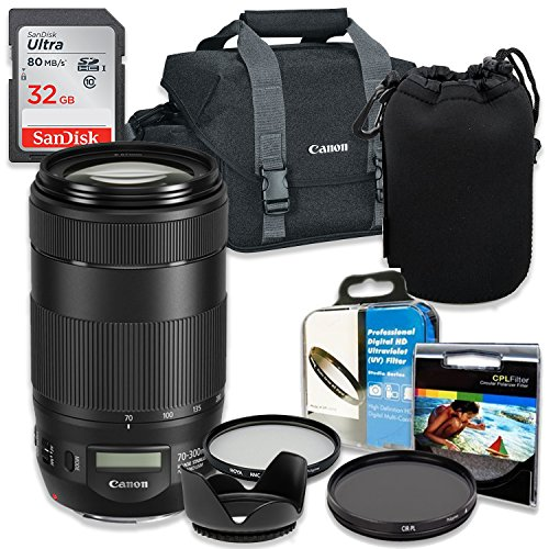 Professional Accessory Kit with Canon EF 70-300mm f/4-5.6 IS