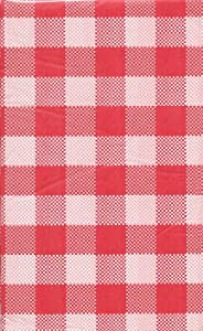 Summer Picnic Gingham Plastic Tablecloth 54 In X 108 In   Red U0026 White  Checkered By DTSC