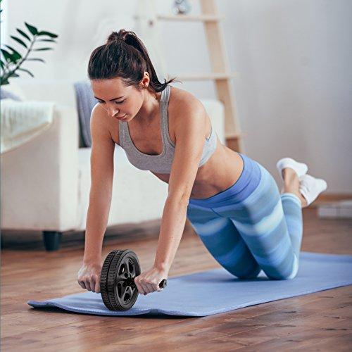 Pharmedoc ab roller exercise wheel abdominal carver w