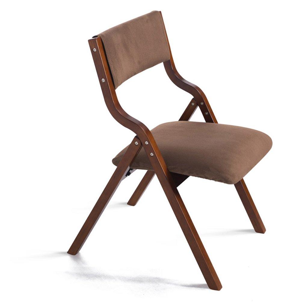 Chen- Simple solide bois pliant chaise moderne à la maison tissu à manger chaise Mahjong bureaux et chaises Chaises