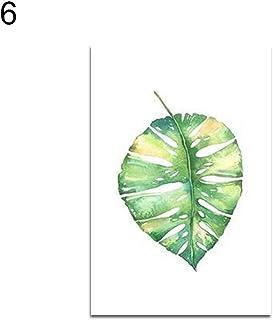 Dandeliondeme acquerello verde foglie foto decorativo soggiorno DIY Frameless atmosfera artistico pittura, 6#, 21x30cm