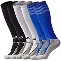 Kids Soccer Socks Boys Girls Knee High Long Sport...