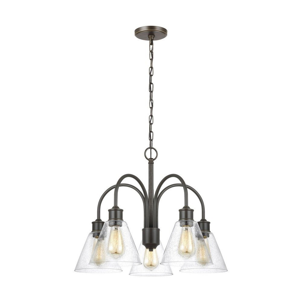 Sea Gull Lighting 3120305-782 Five Light Chandelier, Heirloom Bronze
