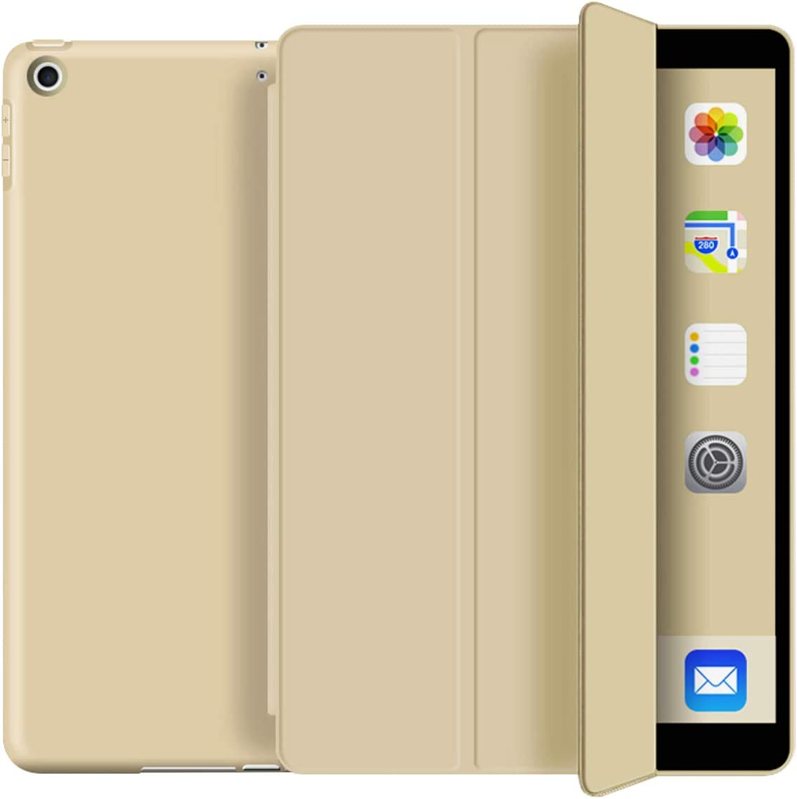 KenKe iPad 9.7 Case 2018 iPad 6th Generation Case / 2017 iPad 5th Generation Case,Ultra Slim Lightweight Smart Cover TPU Soft Auto Sleep/Wake 9.7 inch iPad 5th/6th Gen A1822,A1823,A1893,A1954-Gold