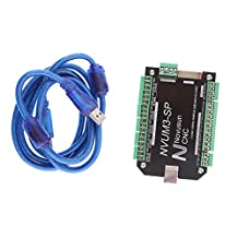 MonkeyJack 3 AXIS CNC 100KHz USB Mach3 Card Controller Card Interface Breakout Board With Cable