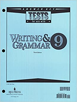 Writing and grammar 9 answer key tests for use with writing and grammar 9 answer key tests for use with 9781591664611 amazon books fandeluxe