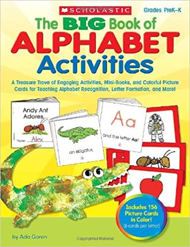 alphabet activities a treasure trove of engaging activities mini books and colorful picture cards for teaching alphabet recognition letter formation