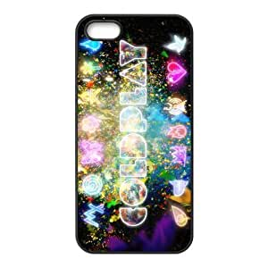 Colorful Coldplay Hard Rubber Phone Cover Case for iPhone 5,5S Cases