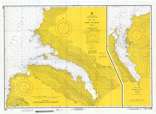 Map | Port Graham And Seldovia Bay, 1971 Nautical NOAA Chart | Alaska (AK) | Vintage Wall Art | 44in x 32in ()