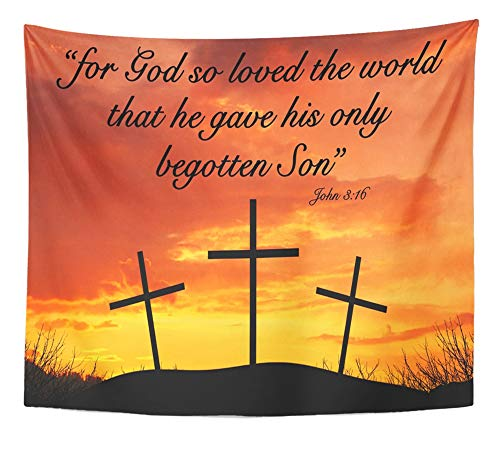 Emvency Tapestry Artwork Wall Hanging Christian Motivational Quote