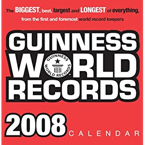 2008 Guinness Book of World Records boxed calendar (May 1, 2007)