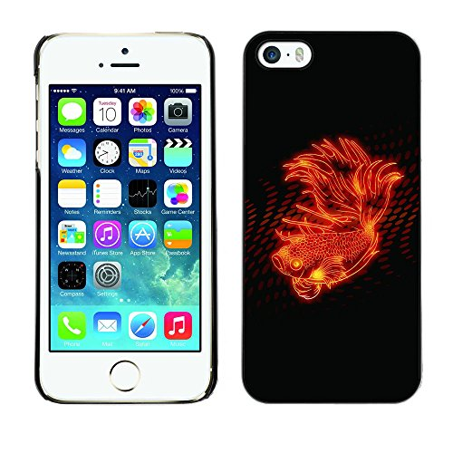 Paccase / Housse Coque Étui de protection pour - Fire Flower Abstract Flame Black Spots - Apple Iphone 5 / 5S