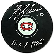 Guy Lafleur Signed Hockey Puck - Montreal Canadiens w/HHOF